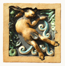 The Hare In The Lane Bright with underglaze