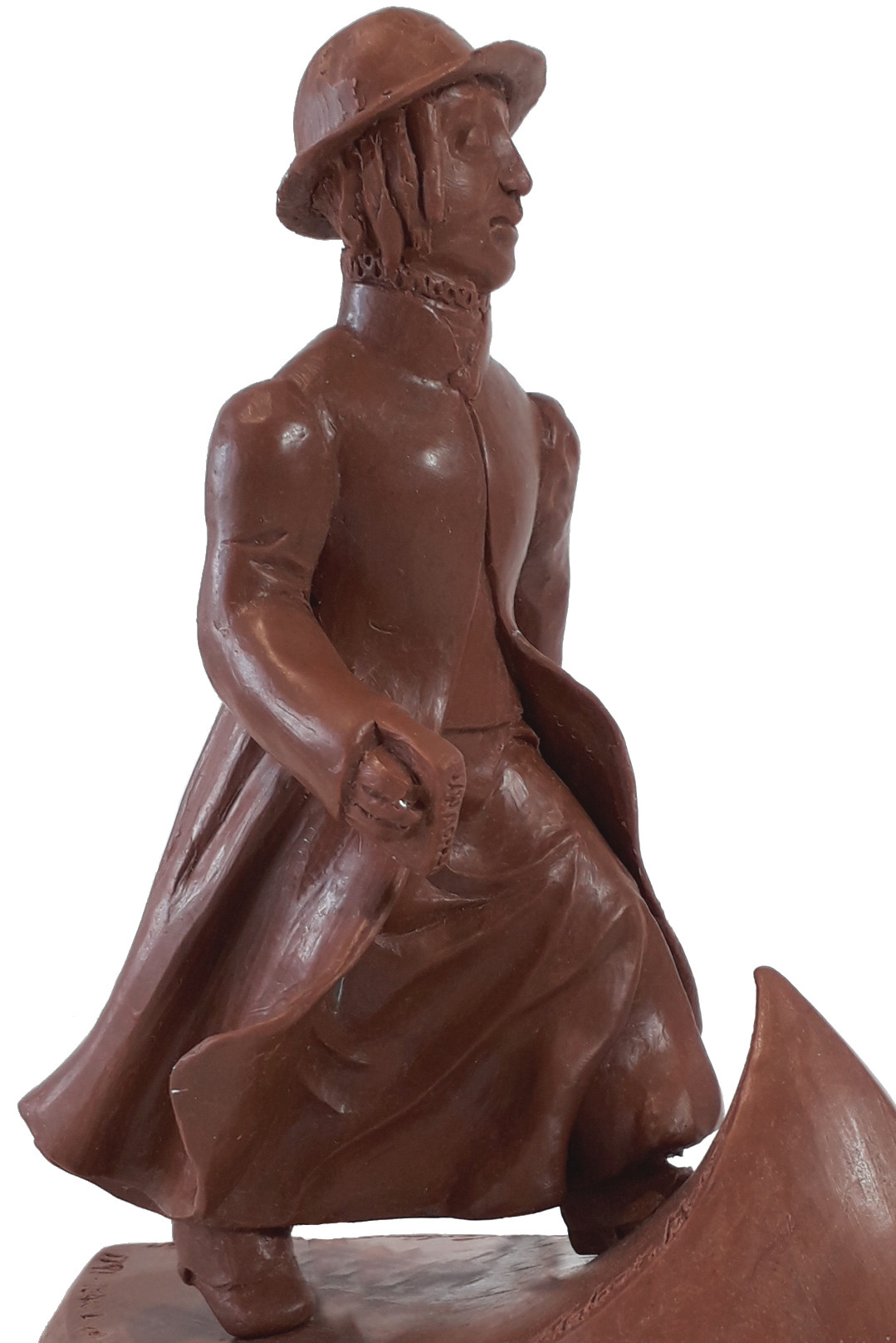 A Public Statue of Anne Lister in Foundry Bronze UK by Ama Menec