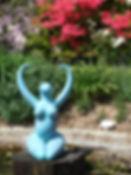 Ama Menec large Nile Goddess at Delamore Gardens, Devon