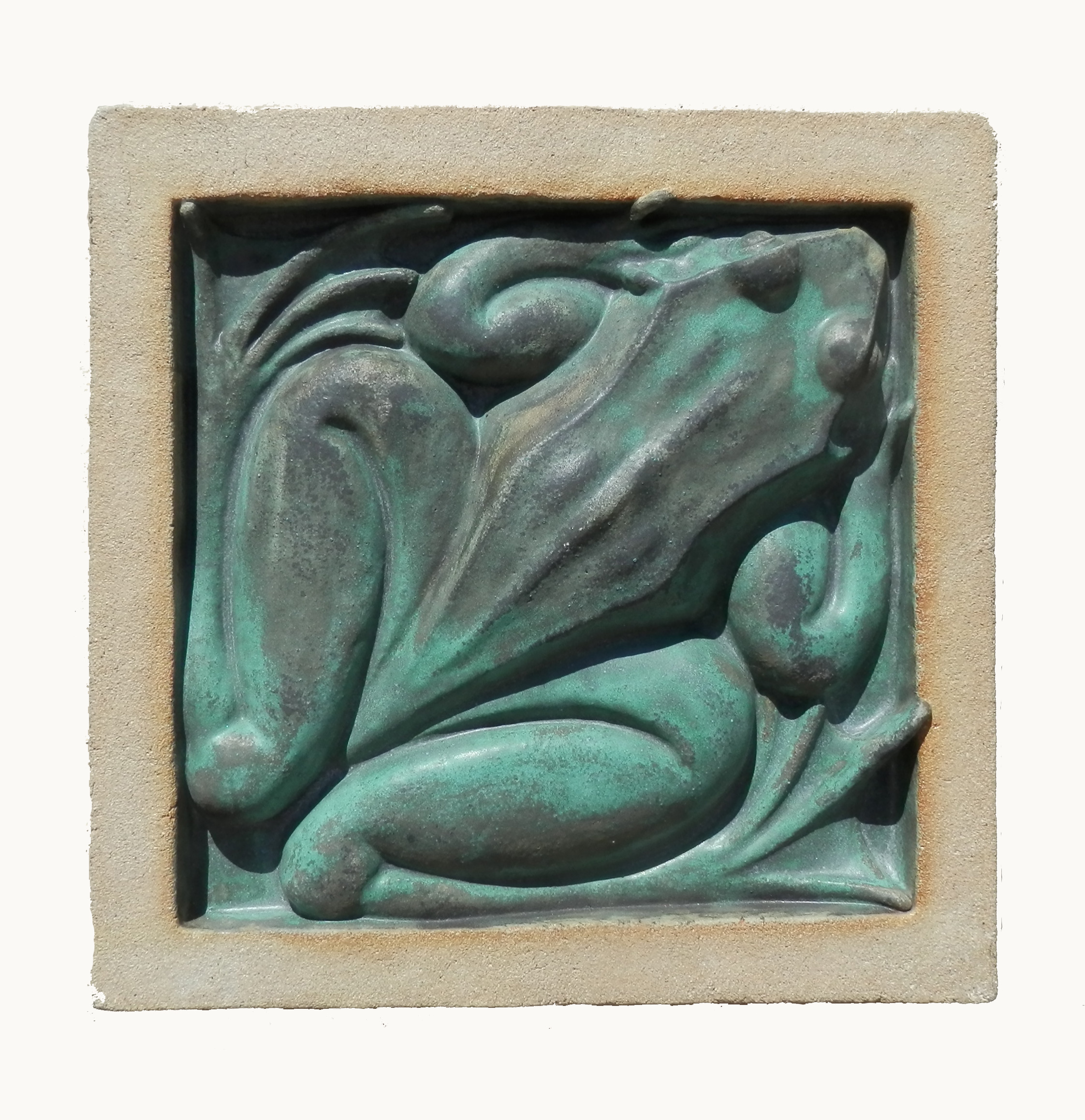 Frog weathered bronze glaze jpg