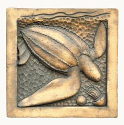 Leatherback Turtle copper wash