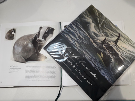 'Persecuted' featured in the Artists for Conservation Exhibition Catalogue!  See my FaceBook