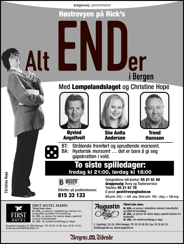 Alt ENDer i Bergen