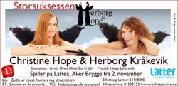 Christine Hope og Herborg Kråkevik