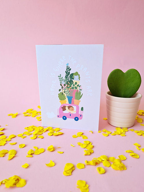 Card Home is where the plants are + envelope