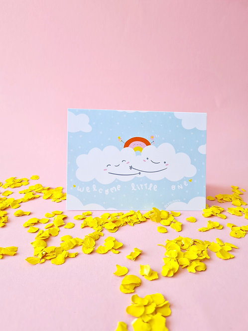 Card  Welcome little one + envelope