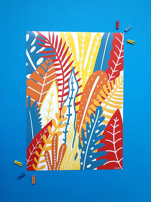 Jungle print A3