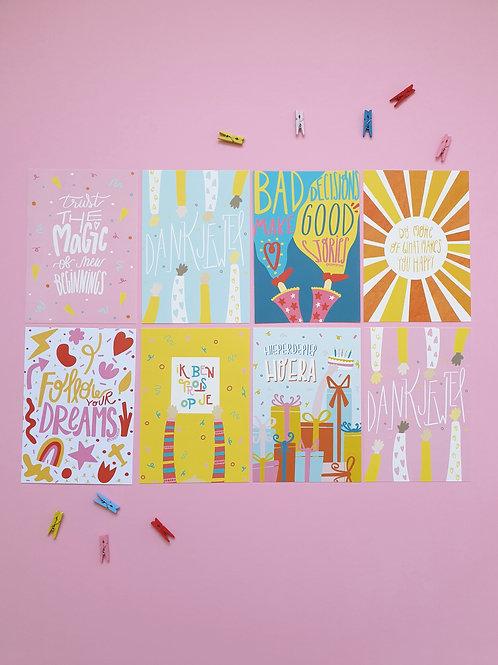 Set 8 postcards