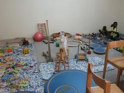 crochet mats in play room