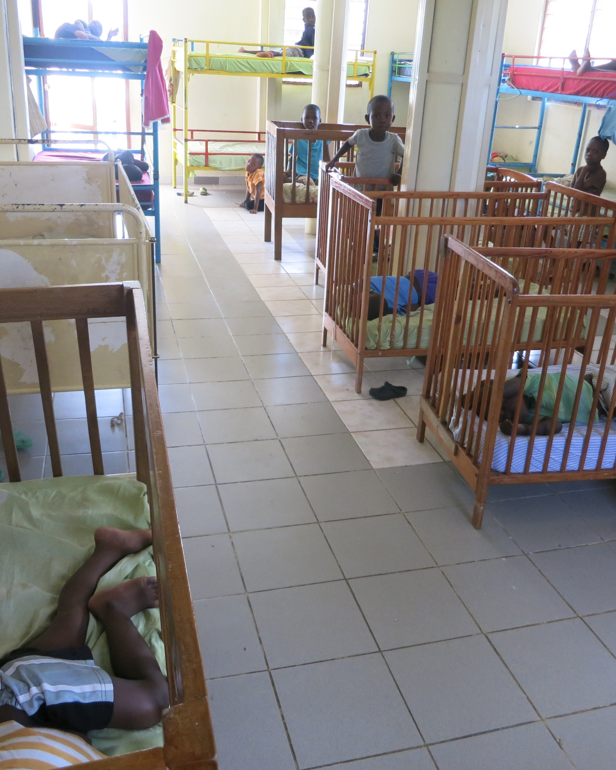 Nap time at orphanage