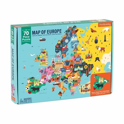 Puzzle Europe 70 pièces
