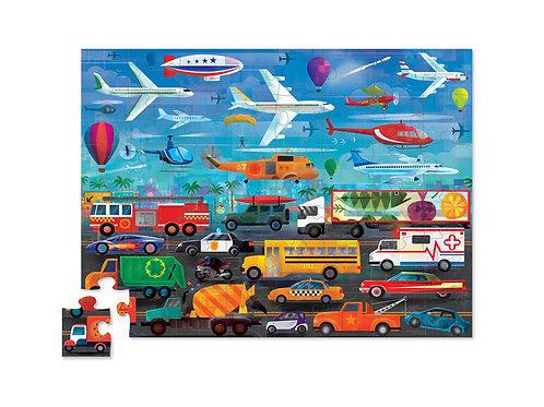 Puzzle opposés véhicules - 48 pièces