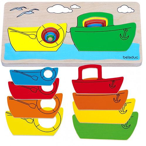 Puzzle bateau multicouches
