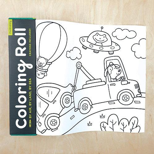 Grand rouleau à colorier : véhicules