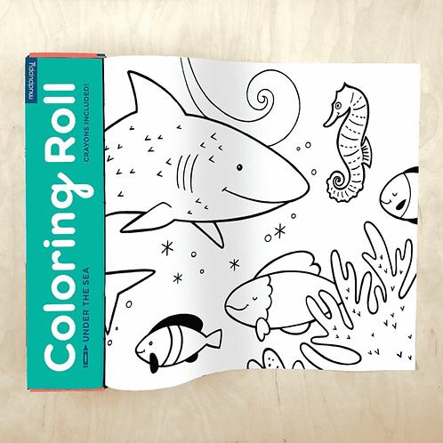 Grand rouleau à colorier : l'océan