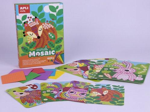 Carte mosaïque en mousse : animaux