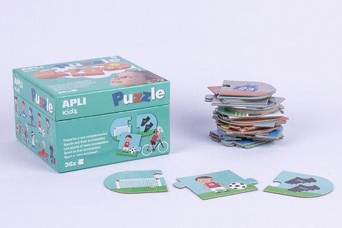 Puzzle Sport et leur accessoires : 3 pièces