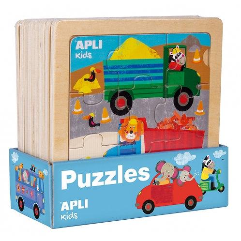 Puzzle en bois 9 pièces