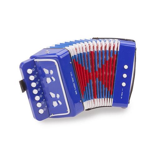 Mini accordéon bleu