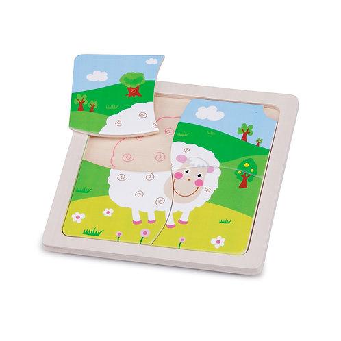 Puzzle en bois mouton