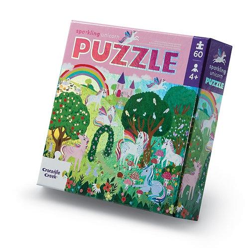 Puzzle aluminium Les licornes  - 60 pièces