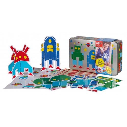 Boîte de gommettes : Robots 3D