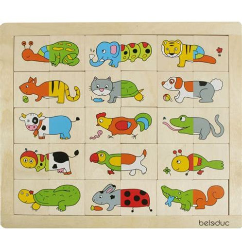Puzzle : mix and match - Animaux