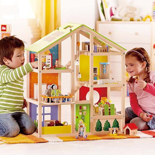 Maison de poupées meublée