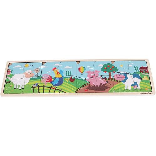Puzzle en bois de la ferme