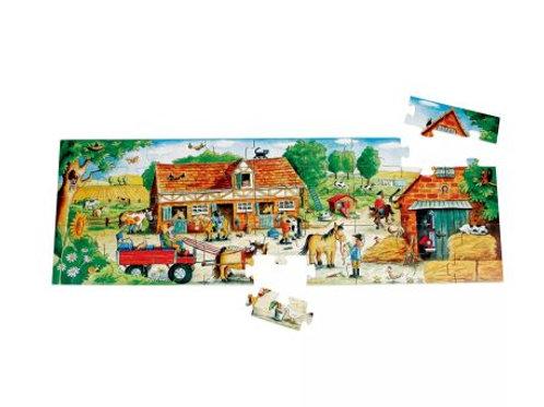 Puzzle géant ferme des poneys