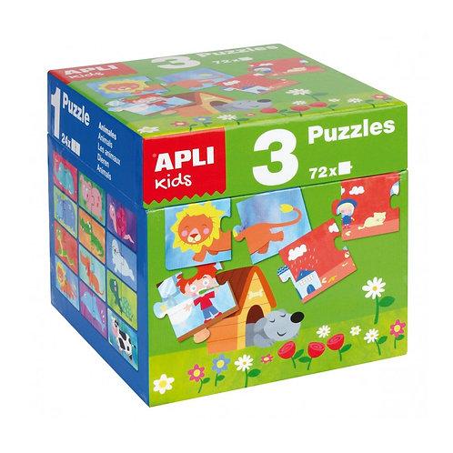 Cube 3 puzzles en 1 (24 pièces)