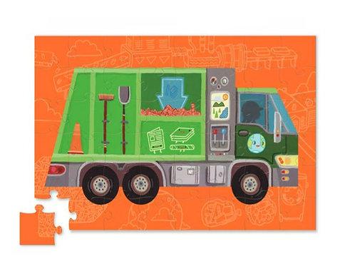 Puzzle - jouet camion poubelle : 48 pièces