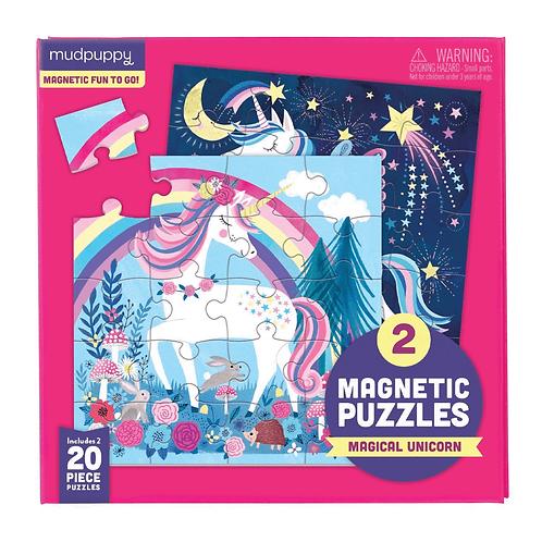 Puzzles magnétiques 20 pièces - licornes
