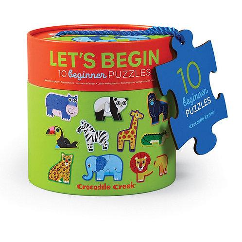 Puzzle animaux : 2 pièces