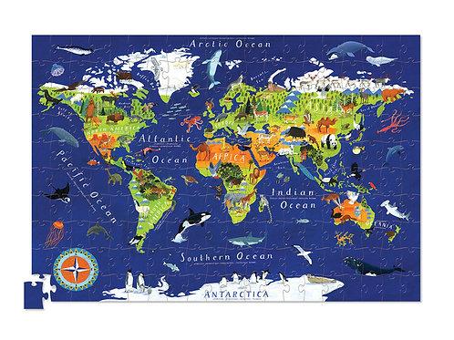 Puzzle monde des animaux - 200 pièces