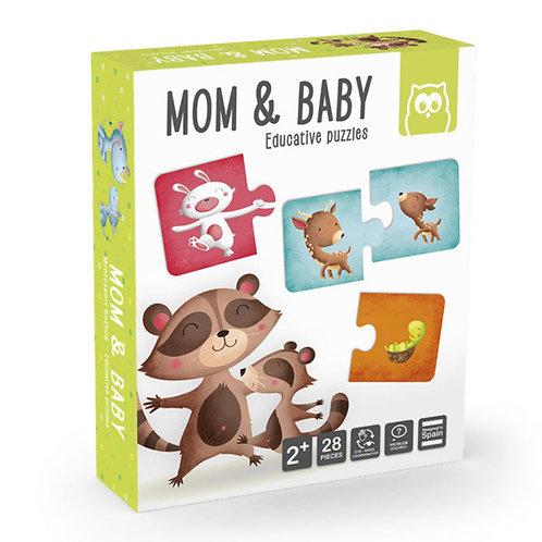 Puzzle maman et son petit Montessori
