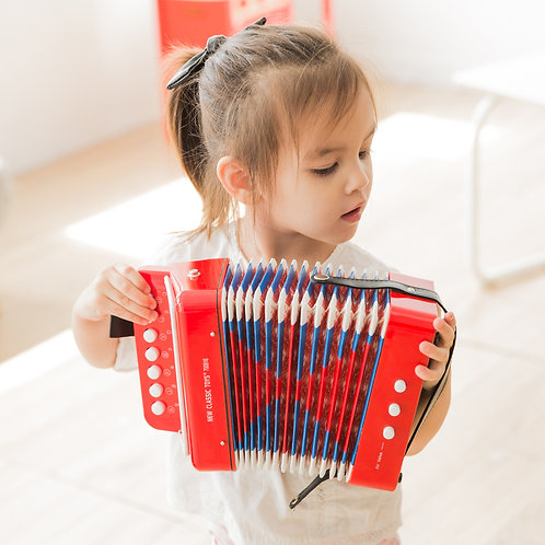 Mini accordéon rouge