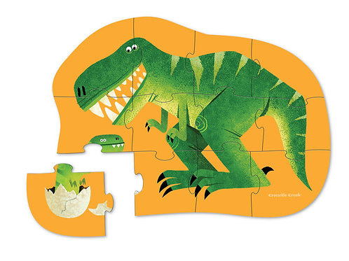 Puzzle dinosaure : 12 pièces