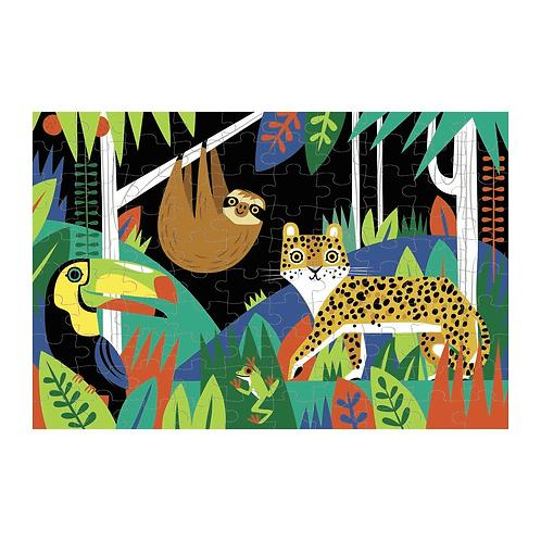Puzzle fluorescent : jungle 100 pièces