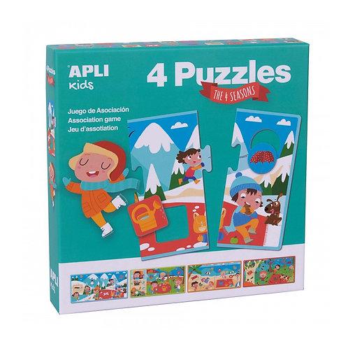 Puzzle Saisons XXL : 4 pièces