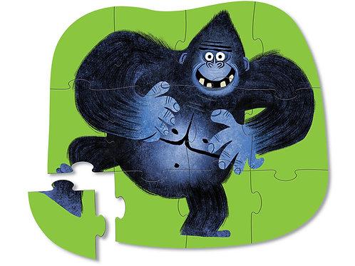 Puzzle gorille : 12 pièces