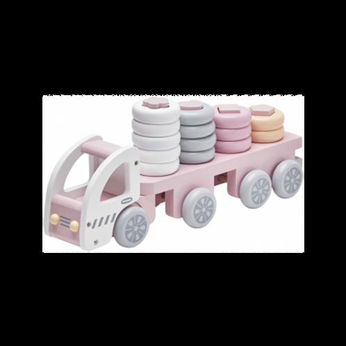 Camion à anneaux roses