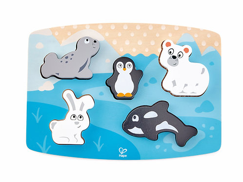 Puzzle tactile : Animaux polaires