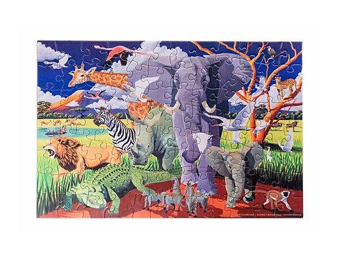 Puzzle safari - 100 pièces