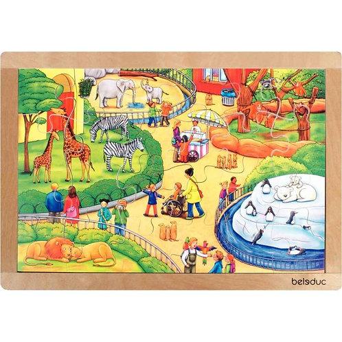"""Puzzle """"le zoo"""" : 24 pièces bois"""