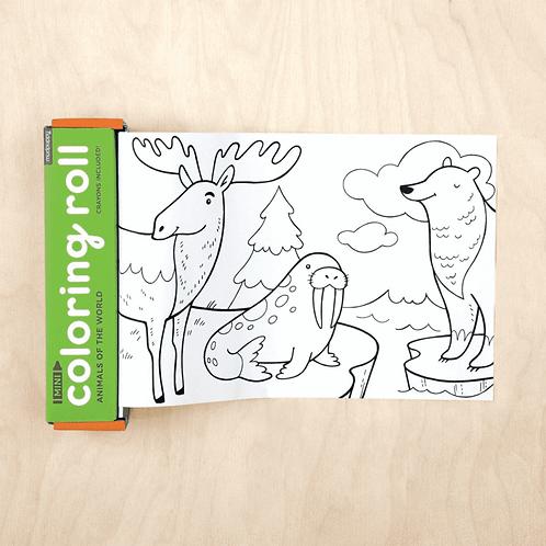 Mini rouleau à colorier : animaux