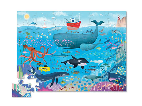 Puzzle sous l'océan : 36 pièces