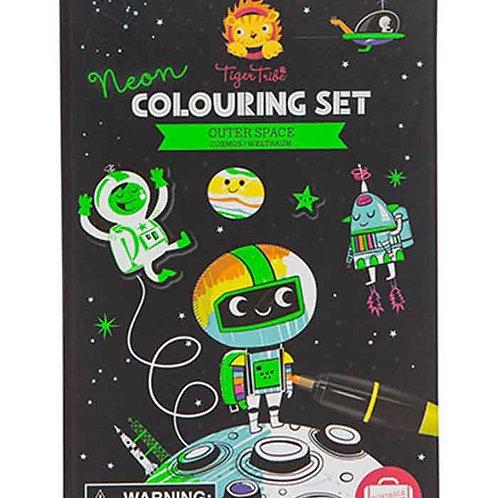 Set de coloriage néon - L'espace