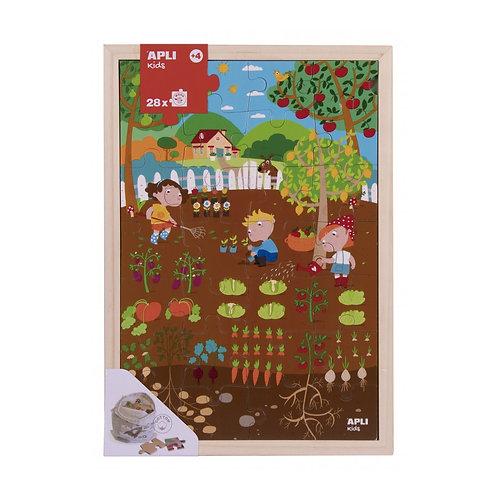 Puzzle en bois : Le potager