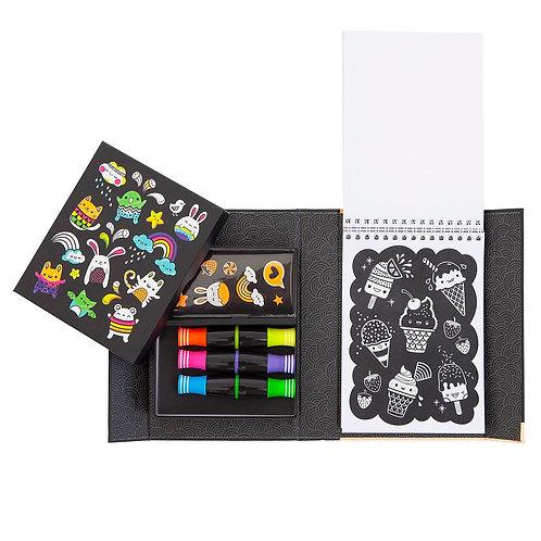 Set de coloriage néon - amis